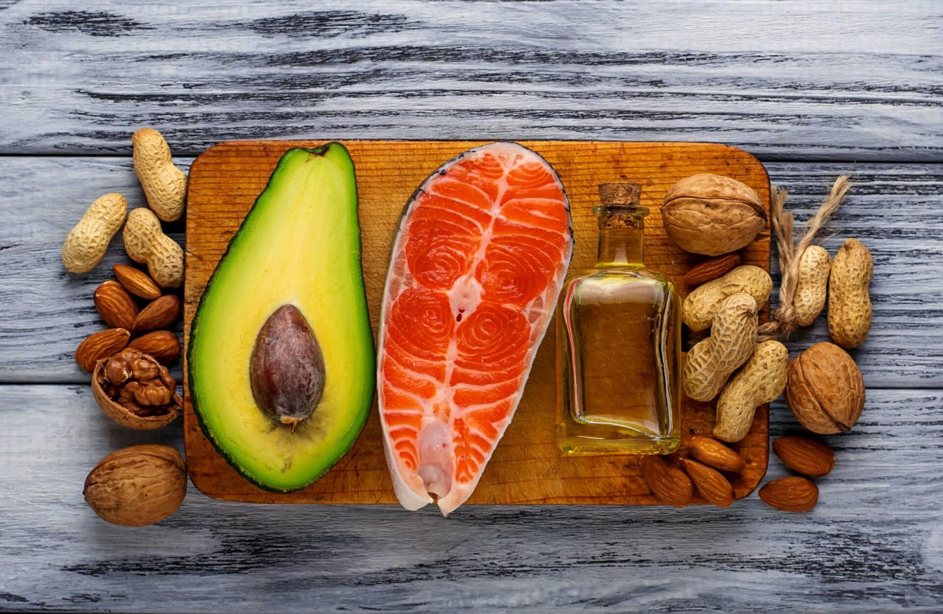 健康に良い食材が並べられている