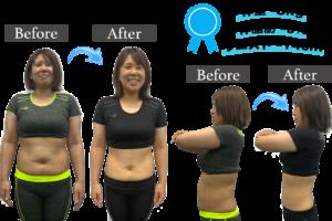 昭和区 ジム ダイエット成果 体重-8kg 体脂肪率-9% ウエスト-14cm