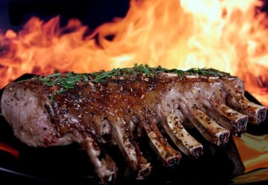 ラム肉の焼肉